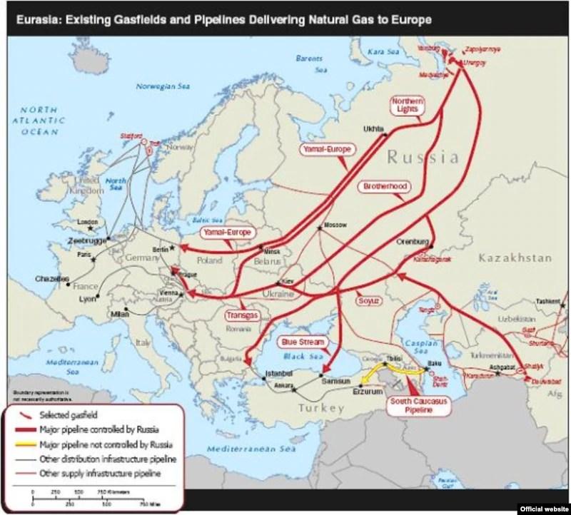 Caspian gas fields