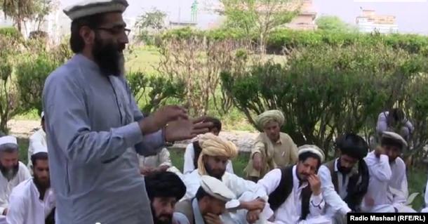 FILE: Dauar tribal leader in North Waziristan during a jirga or tribal assembly.