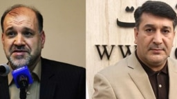 فریدون احمدی، نماینده زنجان (سمت چپ) و محمد عزیزی، نماینده ابهر