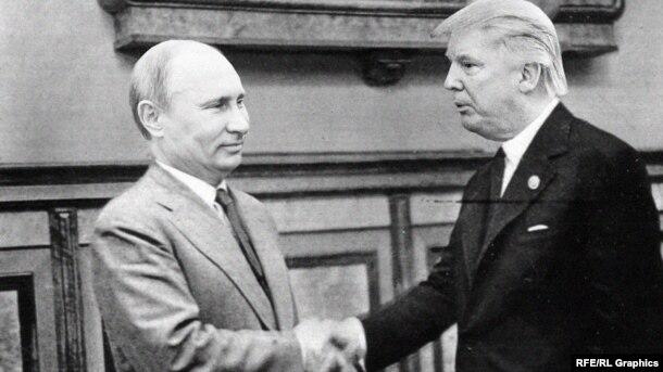 V.Putin və D.Trump. Kollaj.