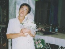 Turkmenistan - Ogulsapar Muradova at the wedding party of her son, Ashgabat, 2004