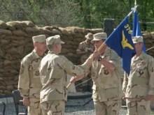 Kyrgyzstan – U.S. airmen at Manas (Ganci) air base, undated