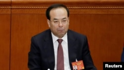 时任重庆市委书记的孙政才( 2017年3月5日)