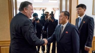 Ông Pompeo gặp quan chức Bắc Hàn hôm 8/7.