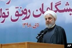 Presiden Iran Hassan Rouhani di Teheran, Iran, 14 Januari 2020.