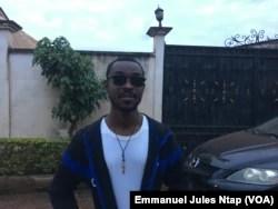 Fondateur de l'asso Empower Cameroon, Titus Ndi Ndukong, au Cameroun, le 12 mai 2018. (VOA/Emmanuel Jules Ntap)