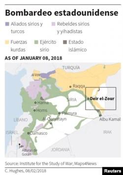 Bombardeo de EE.UU. mata a 100 combatientes sirios pro-Assad 1