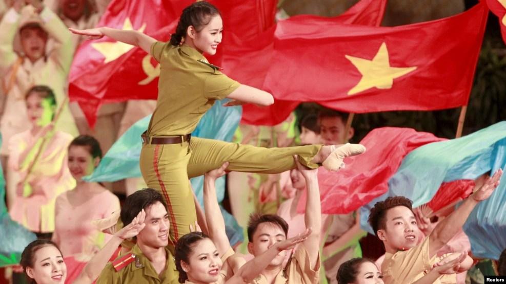 Lễ kỷ niệm 70 năm Ngày thành lập lực lượng CAND Việt Nam, 18/8/2015. Lực lượng CAND Việt Nam được thành lập vào ngày 19/8/1945, ngày Việt Minh lên nắm chính quyền.