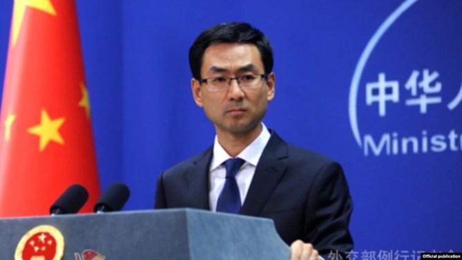 """Người phát ngôn Cảnh Sảng của Bộ Ngoại giao Trung Quốc phản bác thông cáo của Bộ Quốc phòng Mỹ trong đó cáo buộc Bắc Kinh """"uy hiếp"""" các hoạt động dầu khí của Việt Nam."""
