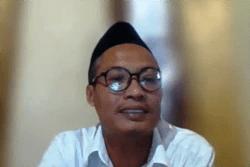 Lurah Panggungharjo, Bantul, DIY, Wahyudi Anggoro Hadi, dalam tangkapan layar.