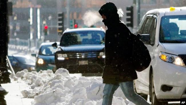 Frío invernal en Nueva Inglaterra.