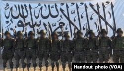 In Afghanistan, the Taliban released to the media this picture, which it said shows the suicide bombers who attacked the army base in Mazar-i-Sharif, April 21, 2017.