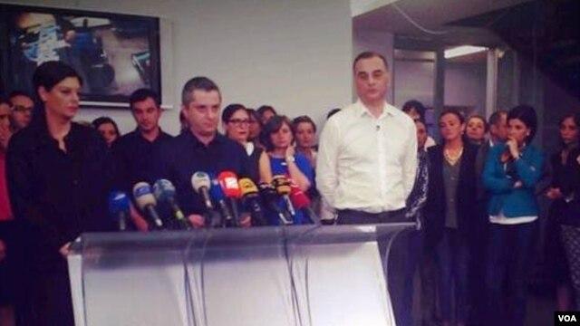 Сотрудники грузинского телеканала «Рустави-2»