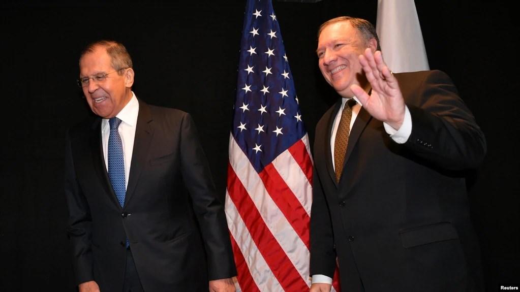 El secretario de Estado de EE.UU., Mike Pompeo, sostendrá conversaciones con el ministro de Relaciones Exteriores de Rusia, Sergei Lavrov, en la ciudad de Sochi, en el sur de Rusia, el 14 de mayo de 2019. Venezuela y Corea del Norte están en la agenda de la reunión.
