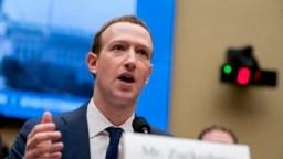 Засновник і керівник компанії Facebook Марк Цукерберґ дає свідчення у Конгресі США про роль компанії в американських виборах 2016 року. (11 квітня 2018 р.)