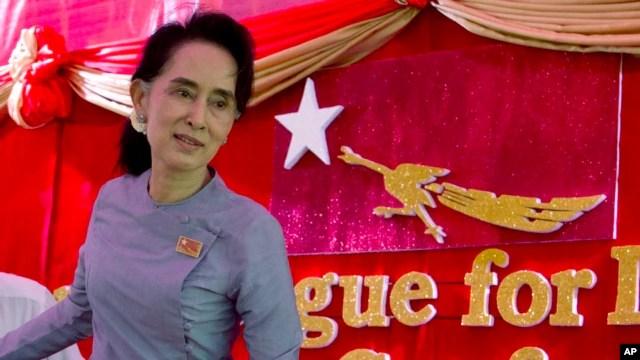 Bà Aung San Suu Kyi tại tư gia ở Yangon.