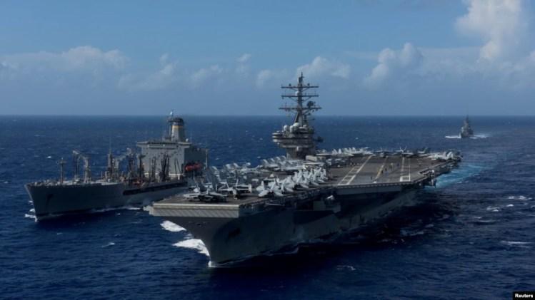 Hàng không mẫu hạm USS Ronald Reagan từng là mục tiêu của tin tặc Trung Quốc khi tàu này đến khu vực tranh chấp ở Biển Đông năm 2016.