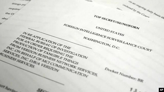 Bản sao yêu cầu Verizon cung cấp cho NSA các thông tin trên điện thoại.