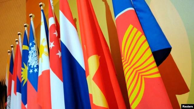 Quốc kỳ của 10 nước thành viên Hiệp hội các quốc gia Đông Nam Á (ASEAN).