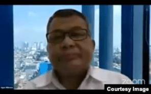 Direktur Pengembangan Strategi Penaggulangan Bencana BNPB, Agus Wibowo (Sumber: Lapor COVID-19/tangkapan layar)