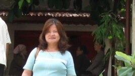 Bà Nguyễn Thị Nga, vợ nhà văn Nguyễn Xuân Nghĩa.