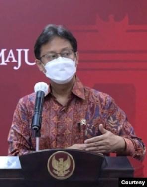Menkes Budi Gunadi Sadikin dalam telekonferensi pers di Istana Kepresidenan, Jakarta, Senin, 17 Mei 2021 mengatakan pihaknya perkuat sistem kesehatan untuk hadapi potensi lonjakan kasus COVID-19 pasca lebaran (biro pers).