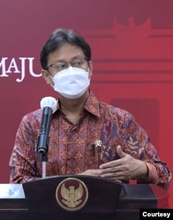 Menkes Budi Gunadi Sadikin dalam telekonferensi pers di Istana Kepresidenan (dok. Biro Pers).