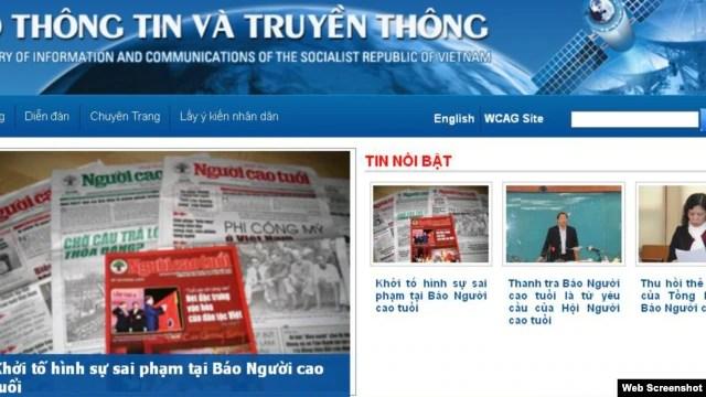 Theo thông cáo đăng trên mạng, Bộ Thông tin và Truyền thông Việt Nam đã ra quyết định đình chỉ website của báo Người Cao Tuổi và cách chức Tổng biên tập Kim Quốc Hoa.