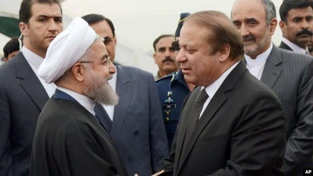 အီရန္သမၼတ Hassan Rouhani နဲ႔ပါကစၥတန္၀န္ႀကီးခ်ဳပ္  Nawaz Sharif ေတြ႔ဆံု ( မတ္ ၂၅၊ ၂၀၁၆)