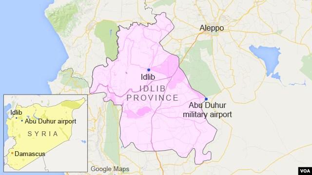 Abu Duhur military airport, Idlib province, Syria
