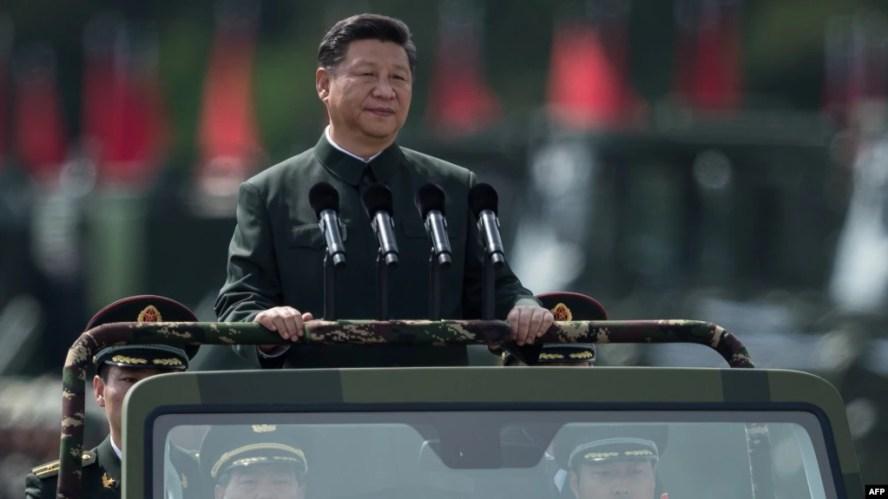 Ông Tập Cận Bình trong lễ đón tại Hong Kong năm 2017.