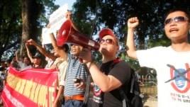 Biểu tình chống Trung Quốc tại Hà Nội, ngày 13/5/2014.