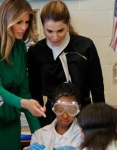 also melania trump jordan   queen tour girls only charter school rh voanews