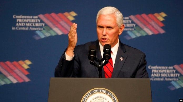 El vicepresidente de EE.UU., Mike Pence felicitó los avances de los gobiernos del Triángulo del Norte en la lucha contra el narcotráfico y la inmigración ilegal.