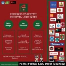 Poster pemenang lomba Festival Lewu Dayak. (Foto: Panitia Festival Lewu Dayak)