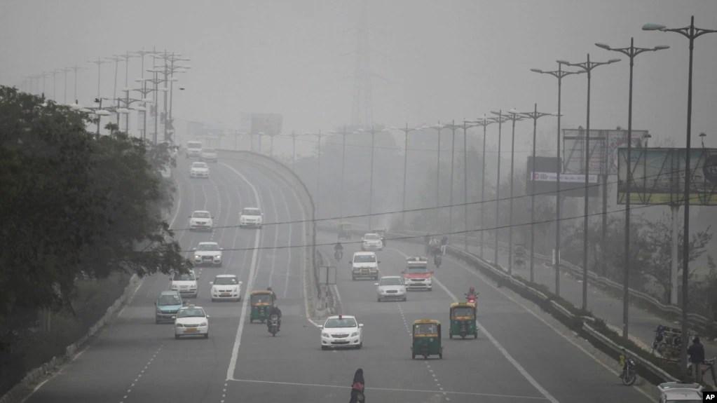 资料照片:新德里空气污染严重