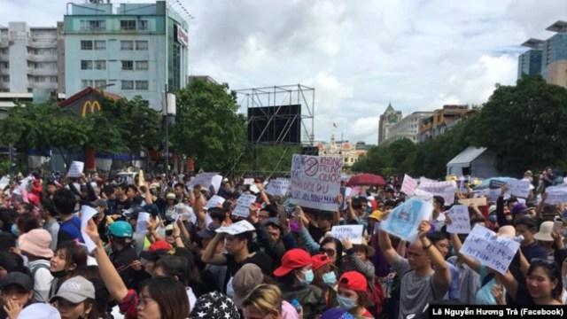 Biểu tình chống Luật đặc khu và Luật An ninh mạng ở Việt Nam.