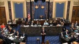 El juicio político al presidente de EE.UU., Donald Trump, comenzó el miércoles con preguntas de los senadores a los gestores de la Cámara de Representantes.