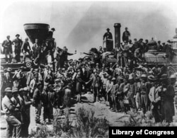 The completion of the Transcontinental Railroad, 1869.