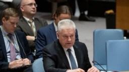 Володимир Єльченко, посол України в ООН, під час виступу на засіданні Ради безпеки 12 лютого 2019 р.