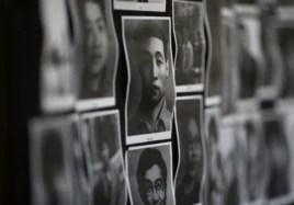 Chân dung các nạn nhân ngày 4 Tháng 6, 1989 đẫm máu tại viện Bảo tàng tưởng niệm nạn nhân Thiên An Môn ở Hồng Kông.