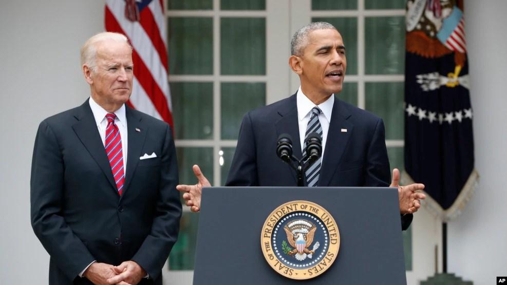 Tổng thống Mỹ Barack Obama phát biểu trước báo giới tại Vườn hồng Tòa Bạch Ốc ở Washington, 9/11/2016.