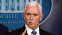 En presentaciones en la televisión nacional, el vicepresidente de EE.UU., Mike Pence, anunció nuevas medidas y más funcionarios para la lucha contra el coronavirus.