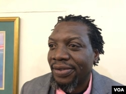 Nixon Nyikadzino of the Movement for Democratic Change party said the absence of representatives from the ruling ZANU-PF party was very noticeable at the human rights pledge event, in Harare, Zimbabwe, July 12, 2018. (S. Mhofu/VOA)