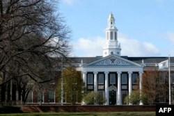 Kampus Universitas Harvard terlihat pada 22 April 2020 di Cambridge, Massachusetts. (Foto: AFP)