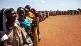 Internally displaced people wait to be registered by the International Organization for Migration and the World Food Program, in Wau, South Sudan, May 11, 2016. The U.S. accuses the South Sudanese government of