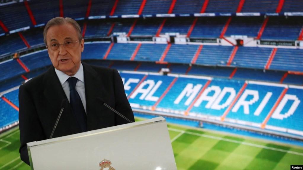 Guddoomiyaha Real Madrid Florentino Perez REUTERS/Sergio Perez - RC13968DD280