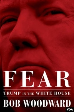 """The book, """"Fear, Trump in the White House,"""" authored by Bob Woodward and published by Simon & Schuster, is to be released September 11."""