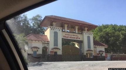 Cổng Trại giam số 6, nơi Trần Huỳnh Duy Thức bị giam giữ (Facebook Nguyễn Thúy Hạnh)