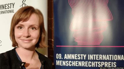 Dân biểu Gyde Jensen, chủ tịch Ủy ban Nhân quyền của Quốc hội Đức, kêu gọi chính phủ Việt Nam ngừng đàn áp người dân và trả tự do cho nhà hoạt động dân chủ Nguyễn Bắc Truyển. (ảnh trên Twitter cá nhân của dân biểu Gyde Jensen)